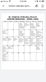 April Lenten Services